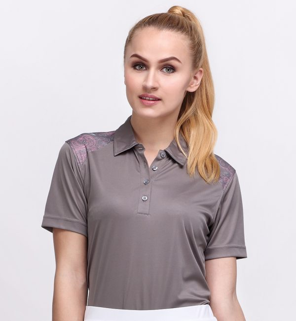 BATIK BOTANICAL POLO TITANIUM (WOMEN) 1