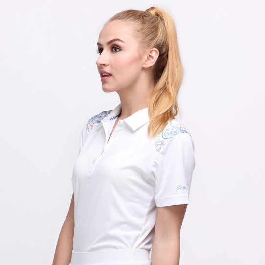 BATIK BOTANICAL POLO WHITE (WOMEN) 2
