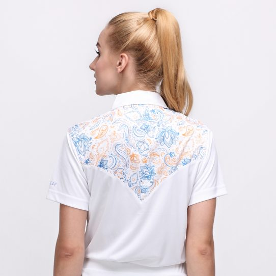BATIK BOTANICAL POLO WHITE (WOMEN) 3