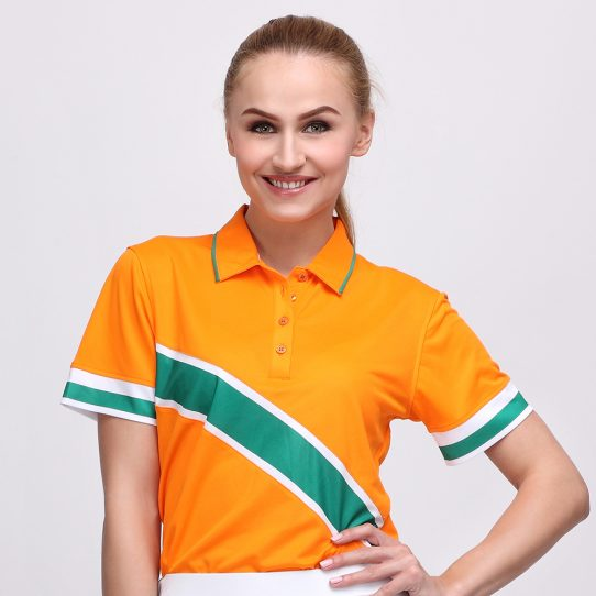 EDD POLO MANDARIN ORANGE (WOMEN) 1