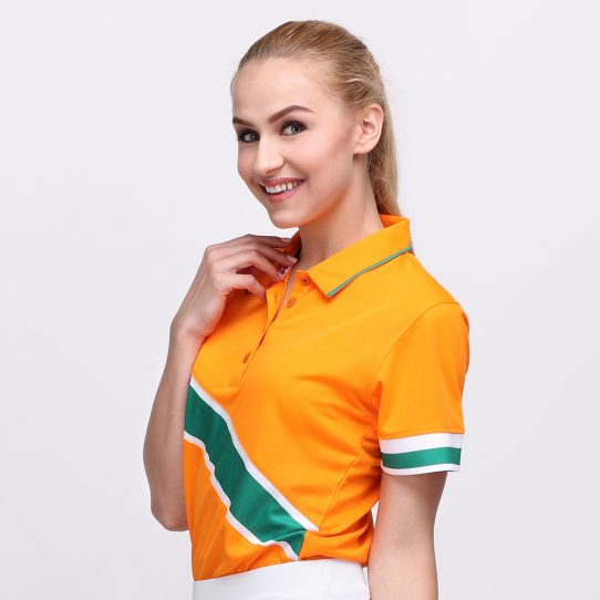 EDD POLO MANDARIN ORANGE (WOMEN) 2