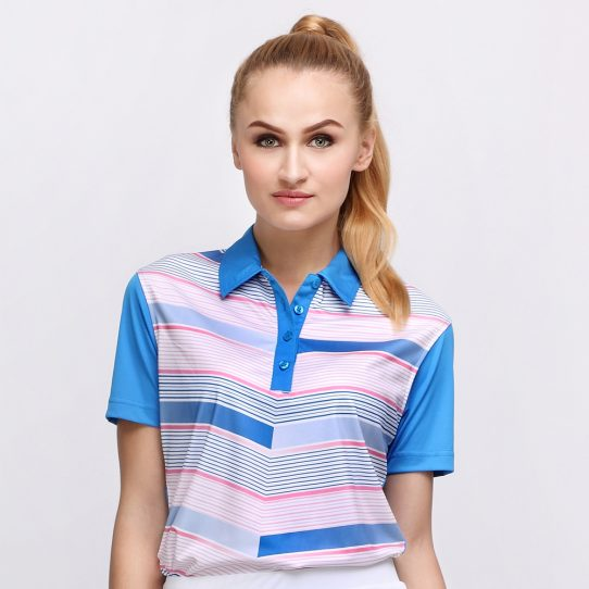 FLYING V POLO DUSK BLUE (WOMEN) 1