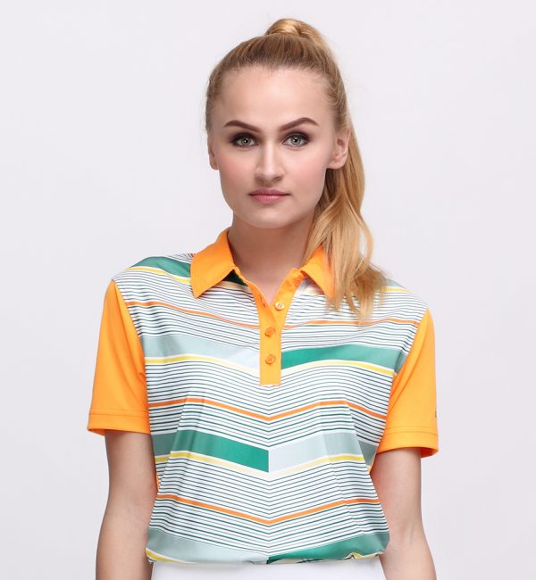 FLYING V POLO MANDARIN ORANGE (WOMEN) 1
