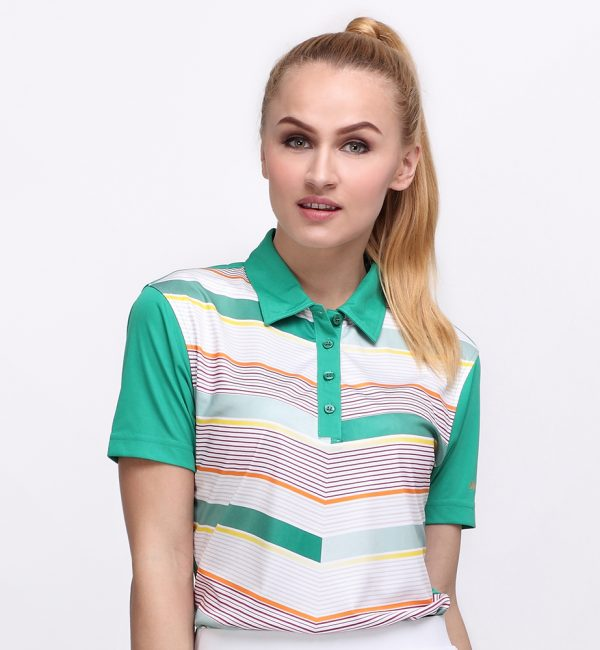 FLYING V POLO TREE GREEN (WOMEN) 1