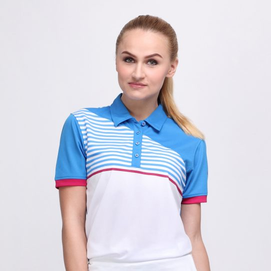FORGET POLO DUSK BLUE PINK (WOMEN) 1