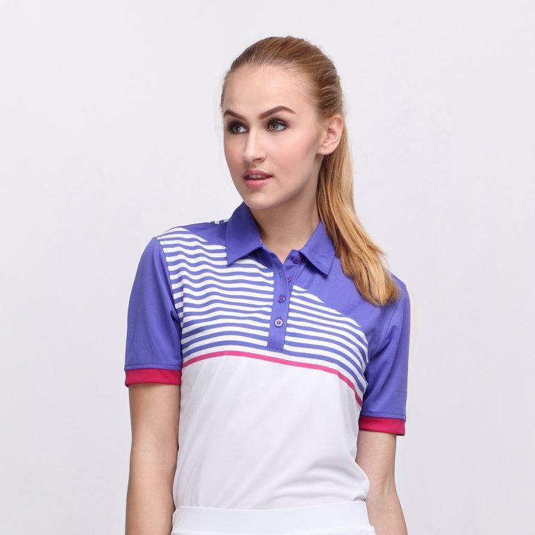 FORGET POLO VIOLET PINK (WOMEN) 1