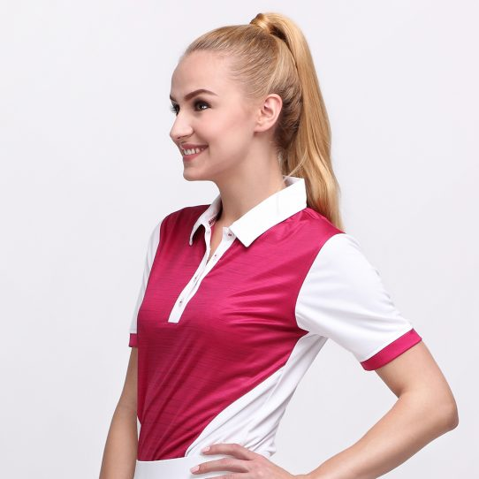 IRON POLO MAGENTA (WOMEN) 1