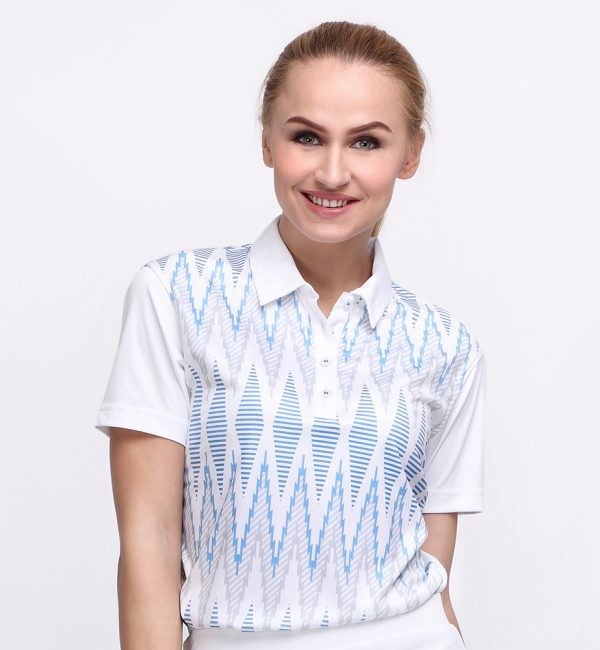 TENUN POLO WHITE DUSK BLUE (WOMEN) 1