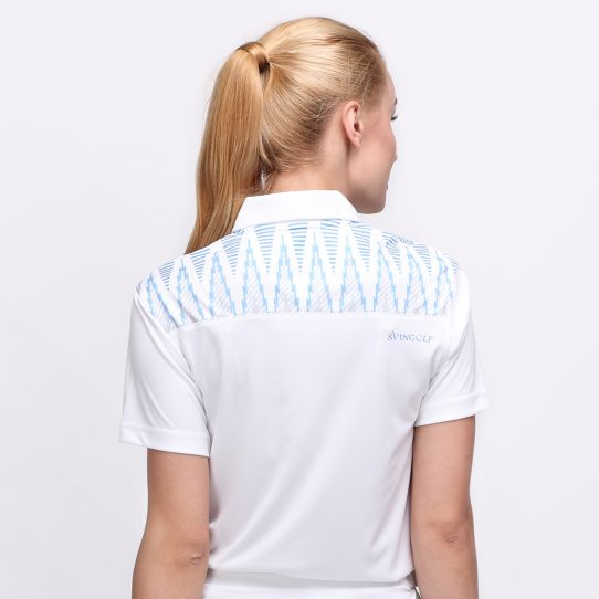 TENUN POLO WHITE DUSK BLUE (WOMEN) 3