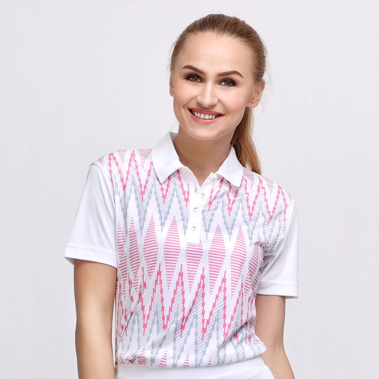 TENUN POLO WHITE PINK (WOMEN) 1