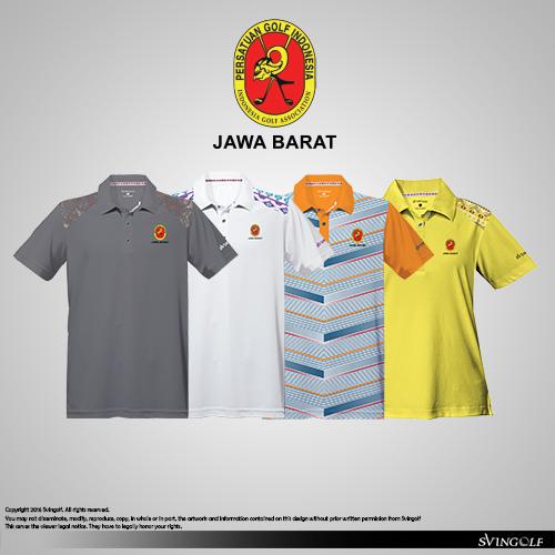PGI Jawa Barat PON 2016 Golf Shirt Polo Apparel