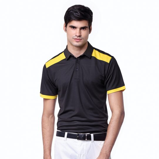 Pottery-Polo-Charcoal-Black-Yellow-Sunflower-02