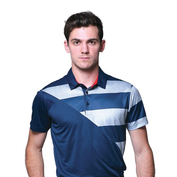 LEEDS-POLO-TealNavy-FlagRed-Front